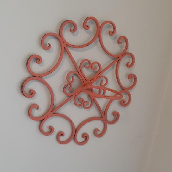 Coral Metal Wall Art